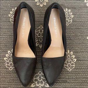Franco Sarto Black Heels SZ 6
